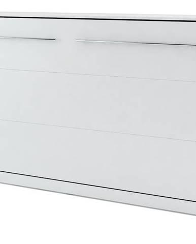 Výklopná posteľ CONCEPT PRO CP-04 biela matná, 140x200 cm, horizontálna