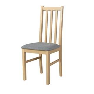 Jedálenská stolička BOLS 10 svetlosivá/dub sonoma