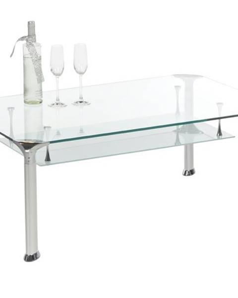 Sconto Konferenčný stolík ALBERTO číre sklo/kov