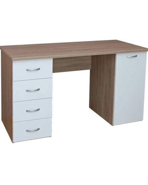 Sconto Písací stôl LADA dub sonoma/biela
