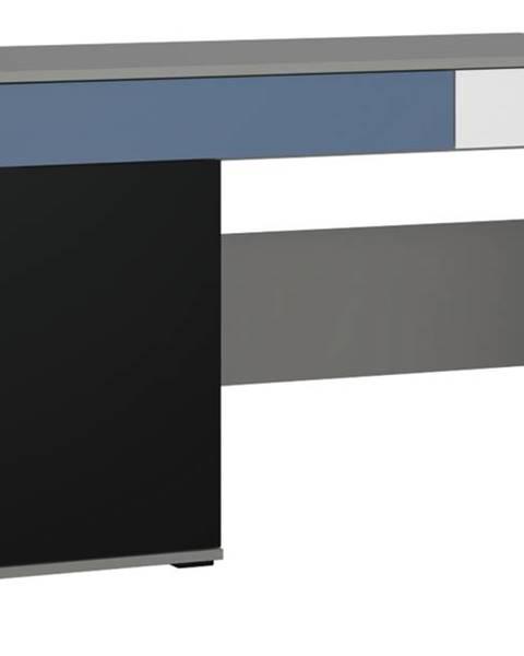 Sconto Písací stôl LASER modrá/sivá