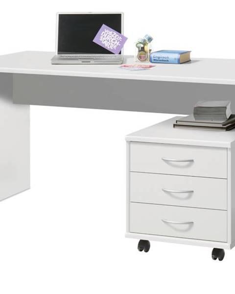 Sconto Písací stôl OPTIMUS 39-007 biela