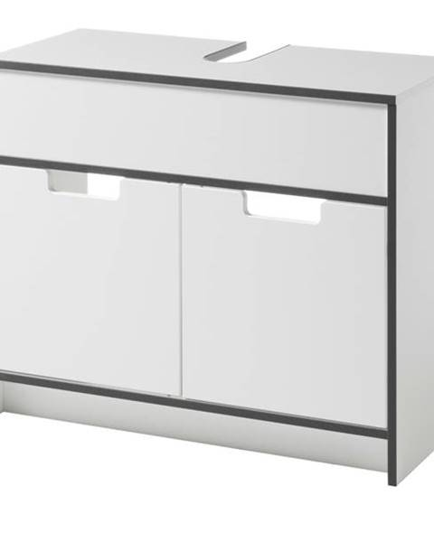 Sconto Umývadlová skrinka NEWPORT biela/antracitová