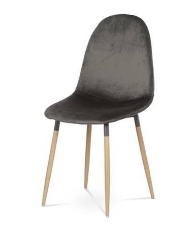 Jedálenská stolička COURTNEY sivá/buk