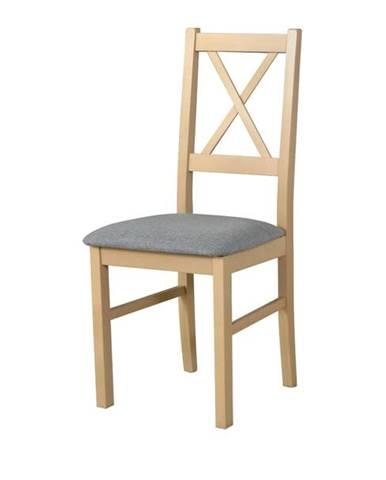 Jedálenská stolička NILA 10 svetlosivá/dub sonoma