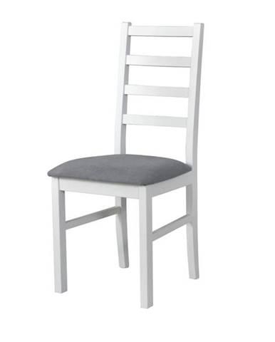 Jedálenská stolička NILA 8 sivá/biela