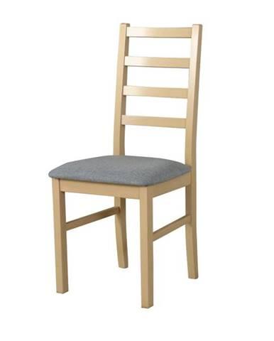 Jedálenská stolička NILA 8 svetlosivá/dub sonoma