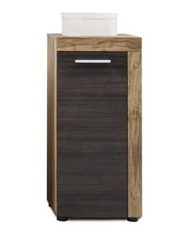 Kúpeľňová skrinka CANCUN/BOOM orech/tmavohnedá