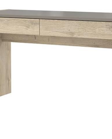 Písací stôl MALAKKA dub bianco/čadič