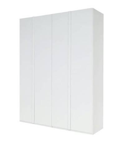 Šatníková skriňa GENUA biela, šírka 180 cm