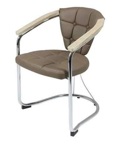 Jedálenská stolička KEN cappuccino