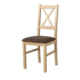 Jedálenská stolička NILA 10 hnedá/dub sonoma