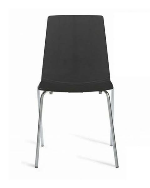 Sconto Jedálenská stolička LOLLIPOP čierna