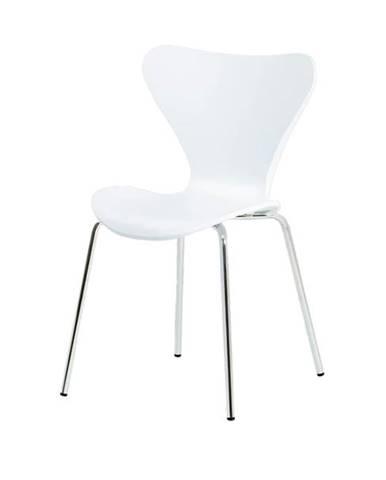 Jedálenská stolička ALBA biela/chróm
