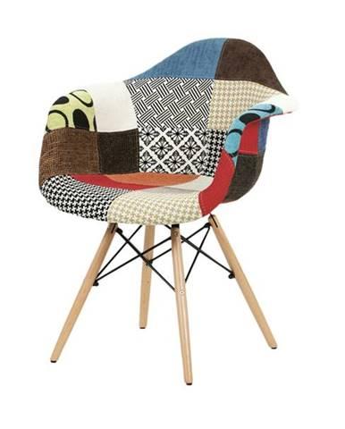 Jedálenská stolička ANGELA patchwork