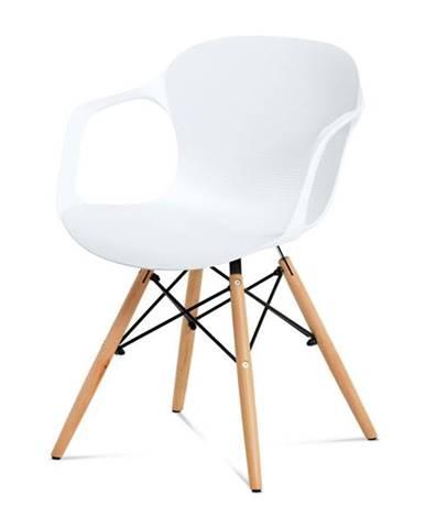 Jedálenská stolička DAGMAR biela/buk
