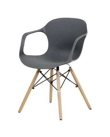 Jedálenská stolička DAGMAR sivá/buk