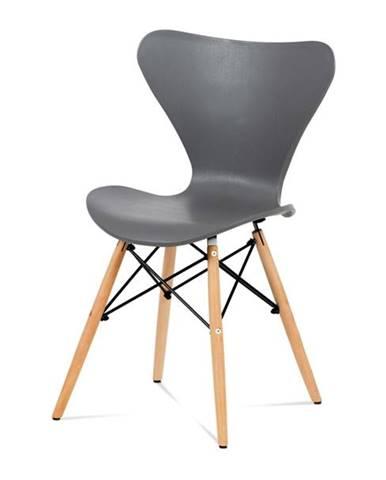 Jedálenská stolička DARINA sivá/buk
