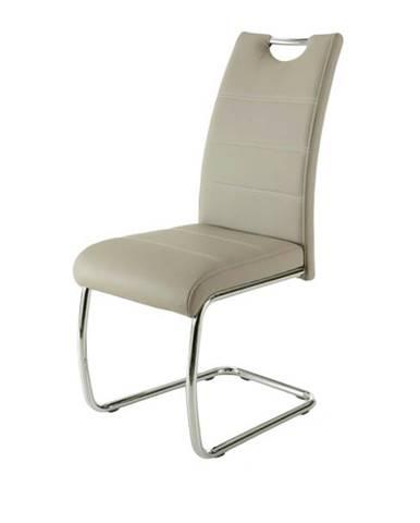 Jedálenská stolička FLORA S krémová, syntetická koža