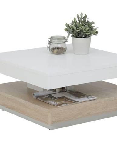 Konferenčný stolík ANDY biela/dub sonoma