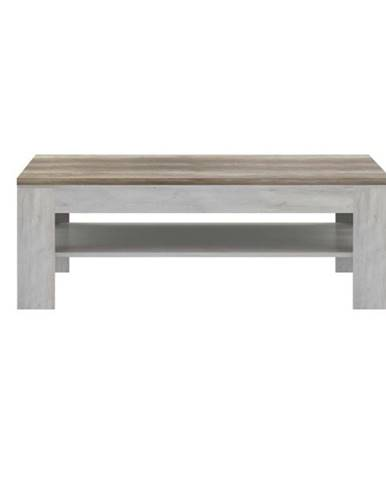 Konferenčný stolík DURO pínia biela/dub antik