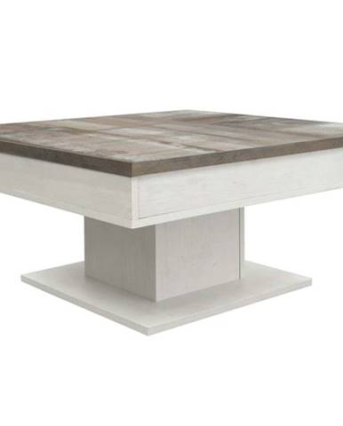 Konferenčný stolík GRANNY dub biely/vintage