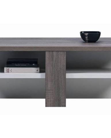 Konferenčný stolík LUCY LI 16 dub sonoma truffel/biela lesk