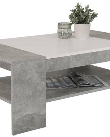 Konferenčný stolík OLIVER beton/biela