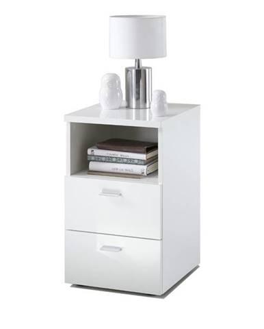 Nočný stolík COLIMA biela vysoký lesk