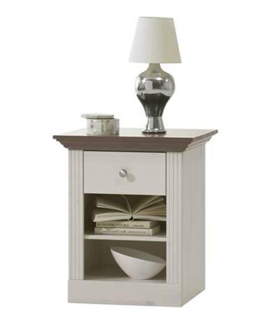 Nočný stolík MONACO 001 borovica biela
