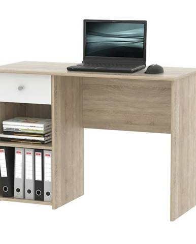 Písací stôl KURT dub sonoma/biela