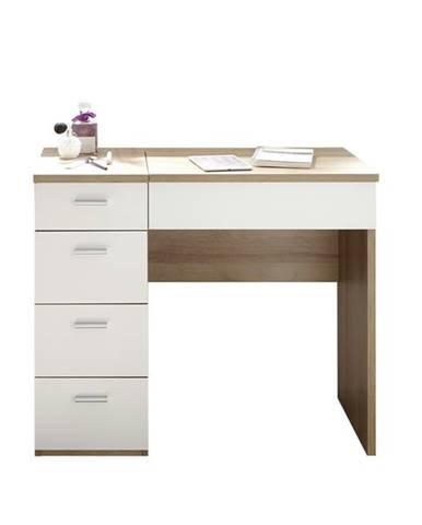 Toaletný stolík MAKE UP dub sonoma/biela