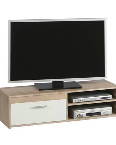 TV stolík GEMMA dub sonoma/biela