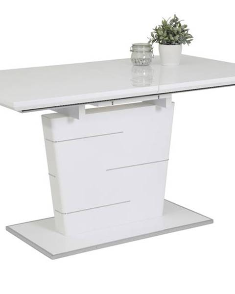 Sconto Jedálenský stôl SILA T biela vysoký lesk