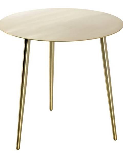 Sconto Prístavný stolík GOLDEX 2 zlatá