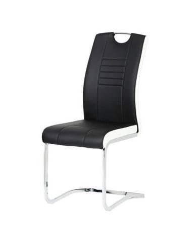 Jedálenská stolička ASHLEY čiernobiela