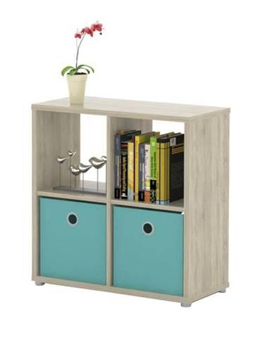 Regál/knižnica LITE RM22 dub sonoma