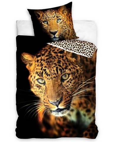 Tiptrade Bavlnené obliečky Leopard, 140 x 200 cm, 70 x 90 cm