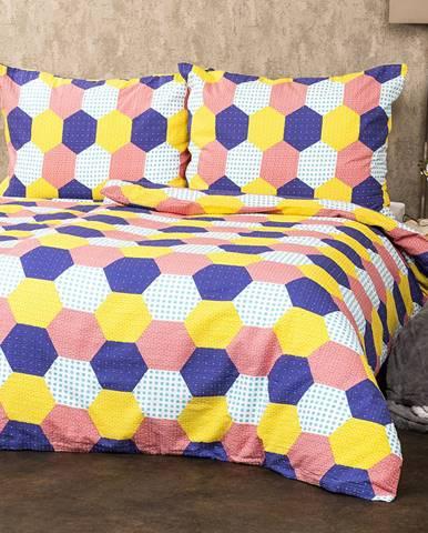 4Home Krepové obliečky Patchwork pastel, 220 x 200 cm, 2 ks 70 x 90 cm