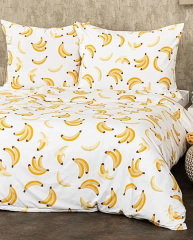 4Home Obliečky Banány micro, 160 x 200 cm, 70 x 80 cm