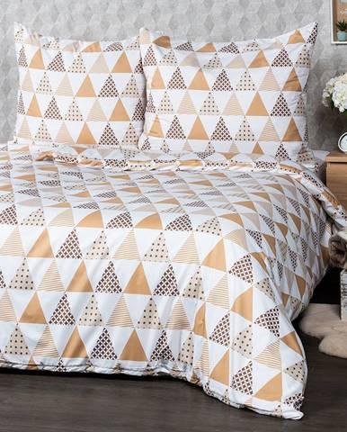 4Home Obliečky Triangel béžová micro, 220 x 200 cm, 2 ks 70 x 90 cm