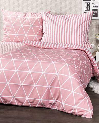4Home Bavlnené obliečky Galaxy ružová, 160 x 200 cm, 70 x 80 cm