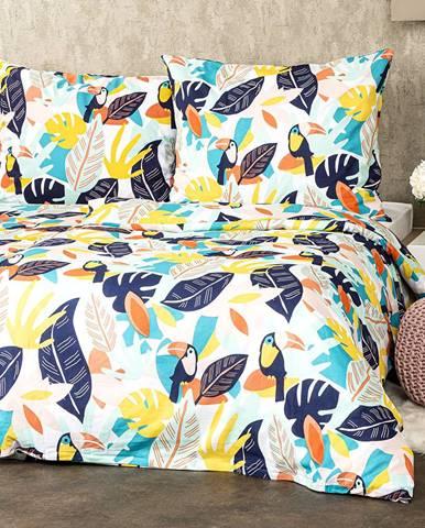 4home Bavlnené obliečky Tukan, 140 x 200 cm, 70 x 90 cm