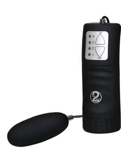 Vibračné vajíčko s ovládaním, čierna